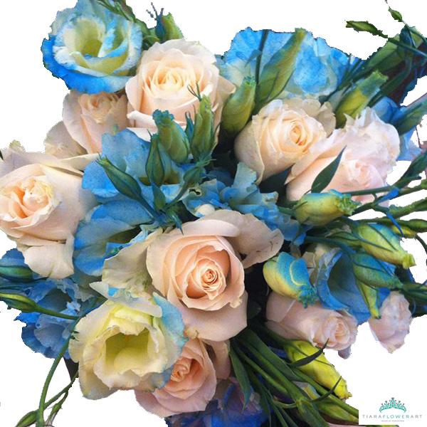 The blue bouquet – Tiara Flowers Cyprus