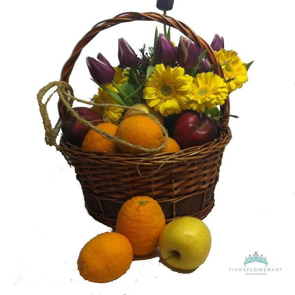 Fruit Flower Basket How To : Tiara flowers cyprus and fruits